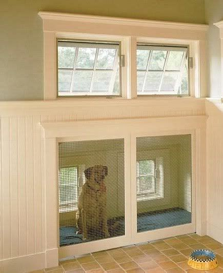 built in kennel a kennel built into the wall pretty sweet it looks