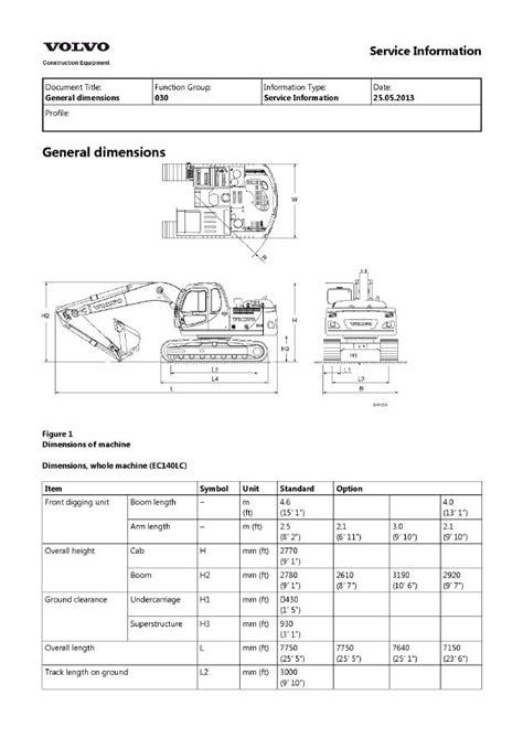 volvo ec140 ec140lc excavator service repair manual pdf