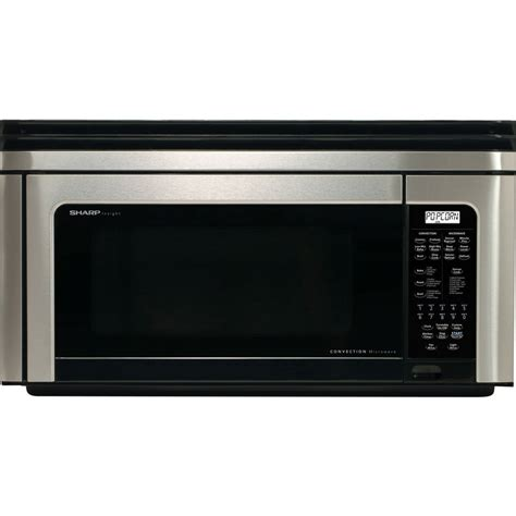 convection microwave oven with exhaust fan sharp r1880lsrt 1 1 cu ft convection over the range