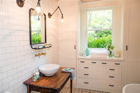 fixer narrow bathroom fixer freshening up a 1919 bungalow for empty nesters hgtv s fixer with chip and