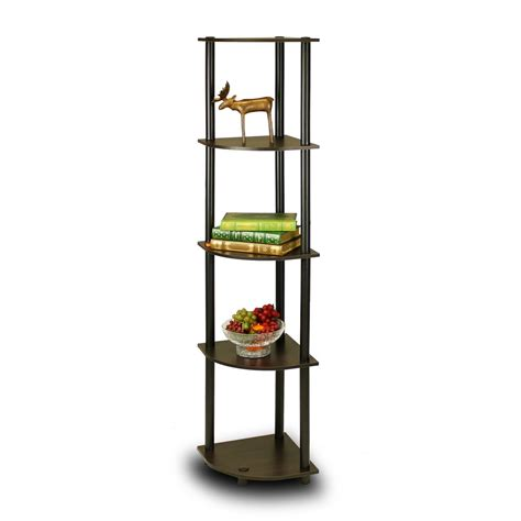 furinno 5 tier corner rack bookcase shelves shelf display
