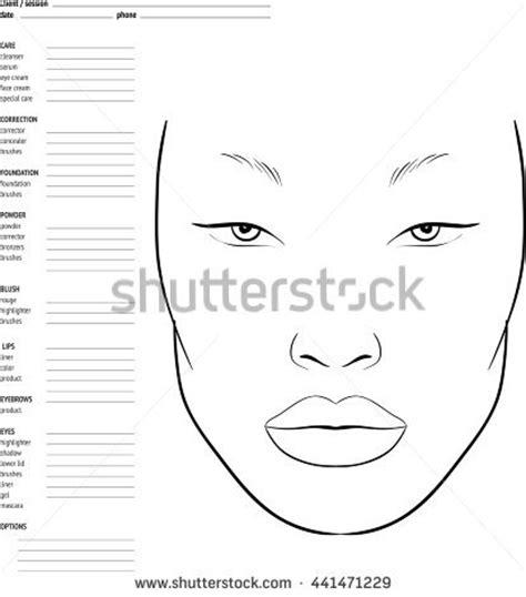 face chart makeup artist blank template stock vector art makeup face chart template face chart makeup artist