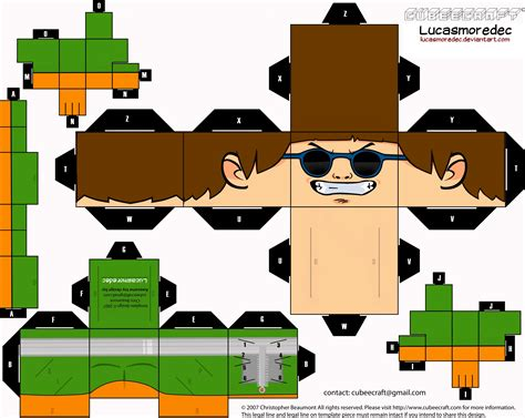Octopus Papercraft - doc ock cubeecraft 1 by lucasmoredec