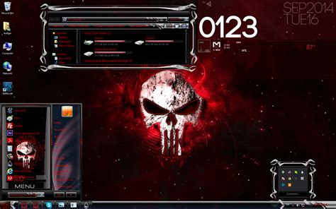 Download Themes For Windows 7 Skull | red skulls custom windows 7 theme