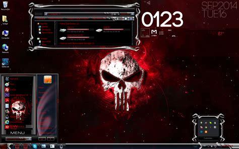themes for windows 7 guns red skulls custom windows 7 theme
