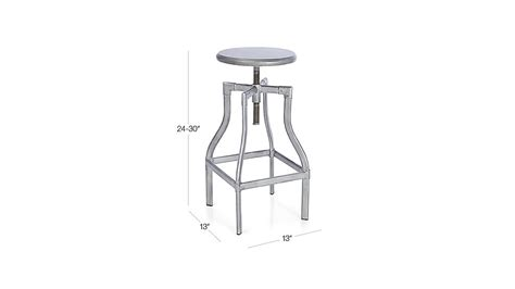 Crate And Barrel Turner Stool by Turner Gunmetal Adjustable Backless Bar Stool Crate And