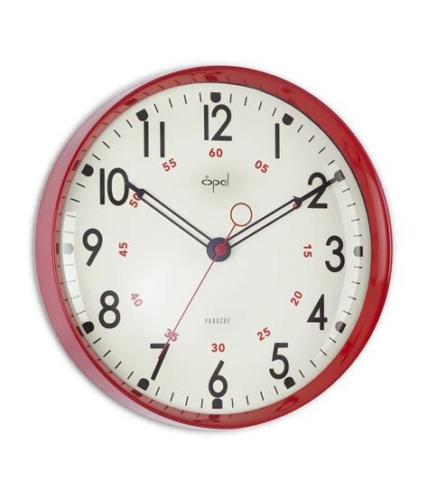 designer clock opal designer wall clock red buy opal designer wall
