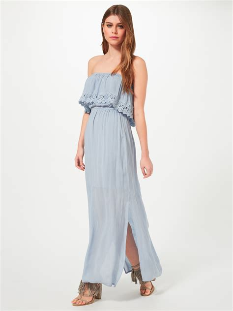 Festival Maxi Dress From Miss Selfridge by Miss Selfridge Bandeau Maxi Dress In Blue Lyst