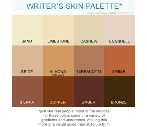 skin color palette entropy alarm skin color palette for the cliche exhausted