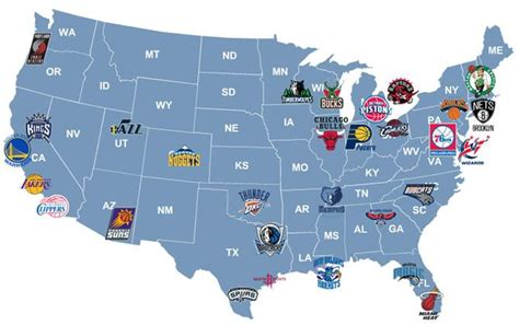 nba map nba teams map