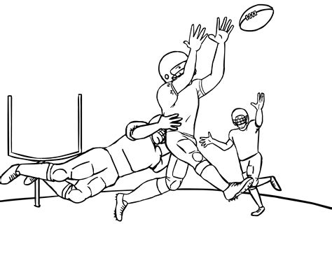 coloring book pages of football players free printable football coloring pages for kids best