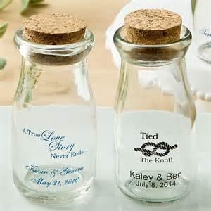 Personalized Wedding Photo Albums 3 5 Oz Custom Printed Mini Milk Bottle Favor Jars W Cork Lids
