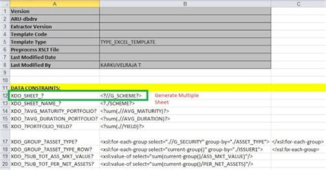 bi publisher data template exle oracle masterminds sheet excel report in oracle