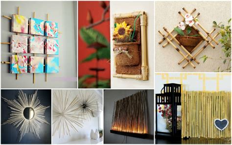 diy bamboo wall decorations   easily