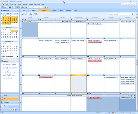 Calendar In Outlook And Synchronise Outlook Calendar With