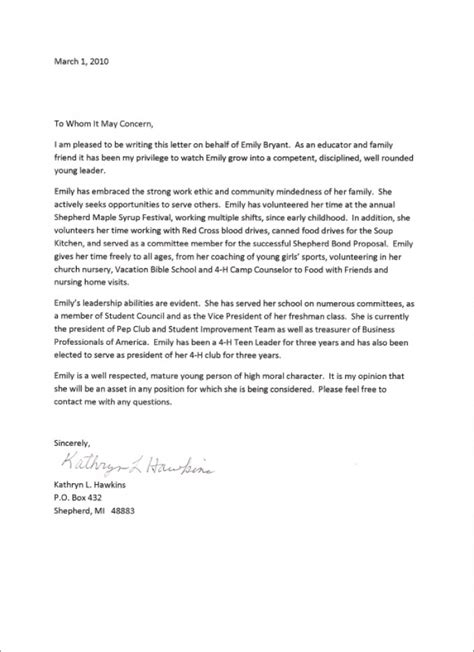 Reservation Letter Tagalog Free Personal Reference Letter Of Recommendation 6