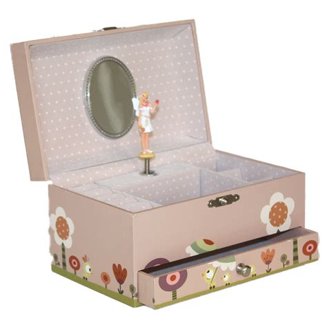 trousselier musical jewellery box ninon nioui pink for
