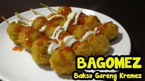 membuat bakso goreng kremes youtube