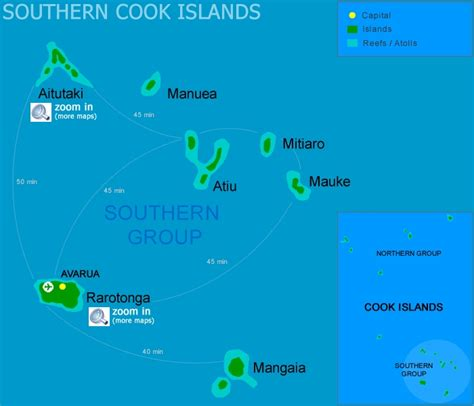 cook islands map cook islands map