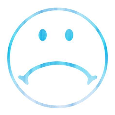 blue sad face clipart best