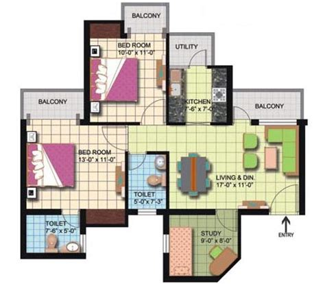 amrapali silicon city floor plan amrapali silicon city floor plan 2 bed 2 tiolet 2