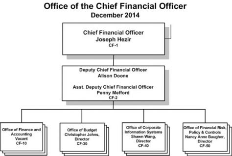 office of the chief financial officer organization chart