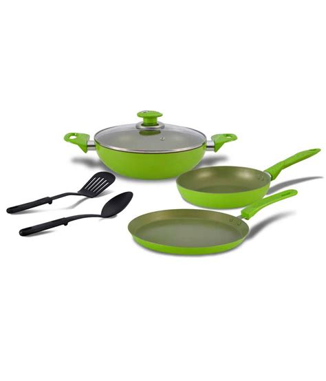 alda by glen non stick cookware set 3pc fern moss buy