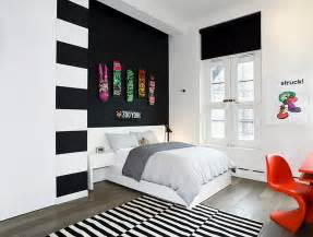 bedrooms for bold black and white bedrooms with bright pops of color