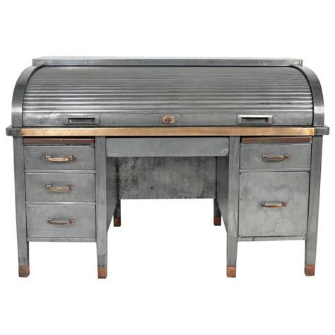 metal roll top desk industrial desk home design