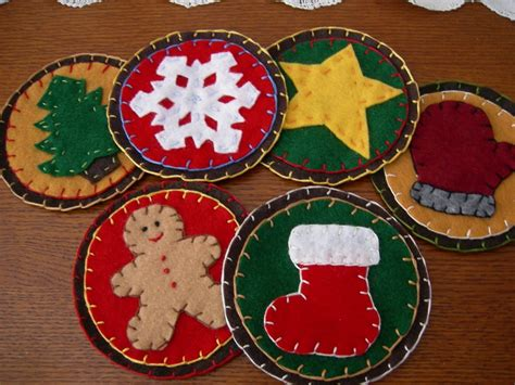 sewchic felt coasters for christmas