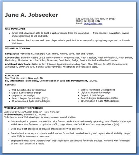 curriculum vitae general cover letter for internship java web resume sle 3 years experience