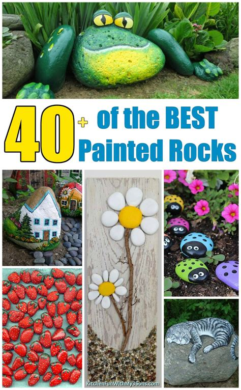 Over 40 Of The Best Rock Painting Ideas Kitchen Fun With