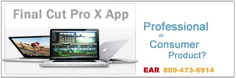 final cut pro app apple announces final cut x app ear professional audio video