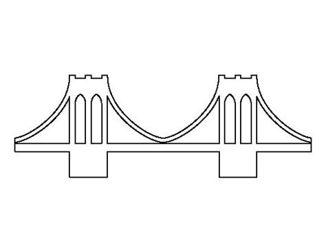 bridge pattern in c brooklyn bridge pattern use the printable outline for