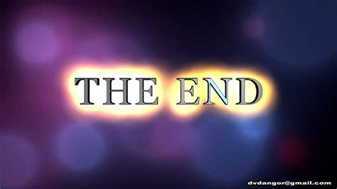 Or Ending The End Free Backgrounds Footage Graphics Effects