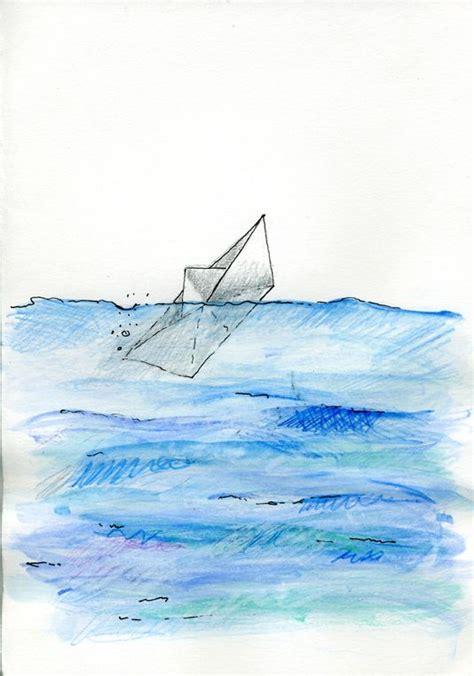 dibujo barco mar dibujo barco de papel en el mar buscar con google il