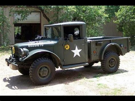 dodge  army truck wd walk  youtube