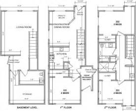 Townhouses Floor Plans 3 Story Townhouse Floor Plans Townhouse Free Download Home