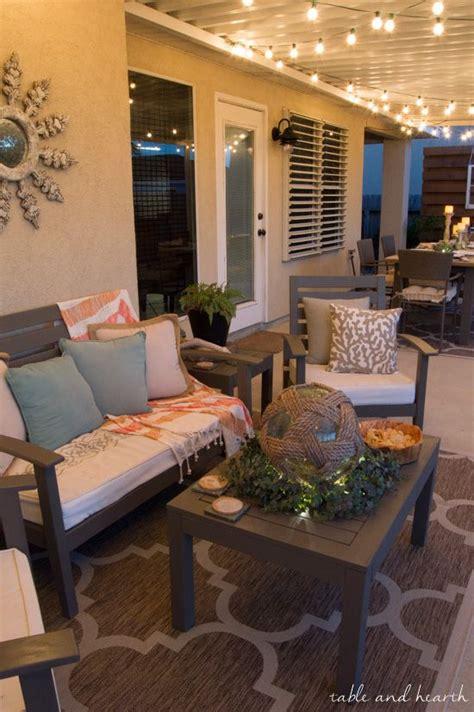 coastal summer patio decor rustic touches