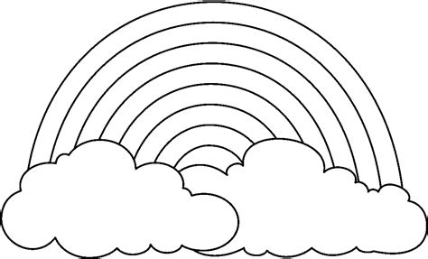 Rainbow Pictures Free   Coloring Home