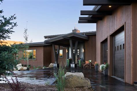 red lodge montana modern timber home precisioncraft