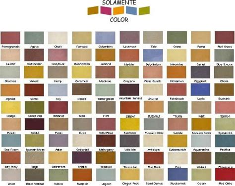 southwest color scheme southwest color chart this chart isn t necessarily the