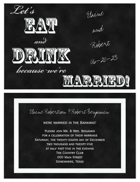 wording for post destination wedding reception invitations 21 beautiful at home wedding reception invitations