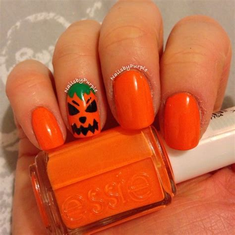 nails pumpkin pumpkin nails nail