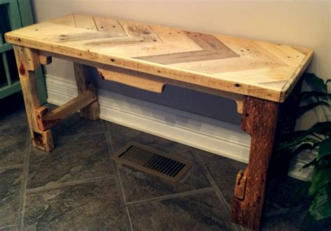 dyi bench upcycled pallet bench
