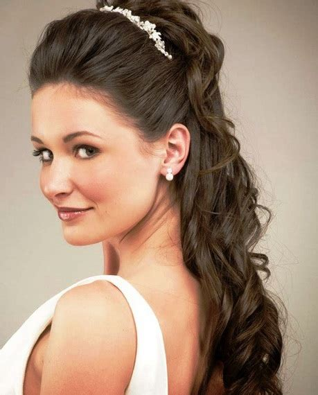 wedding hairstyles cascading curls 20 best half up and half down wedding hairstyles