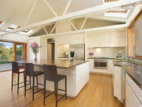 Kitchen Ideas With Island by Modern Island Kitchen Design Using Floorboards Kitchen