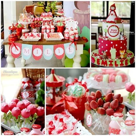 party themes with red kara s party ideas little red riding hood woodland party