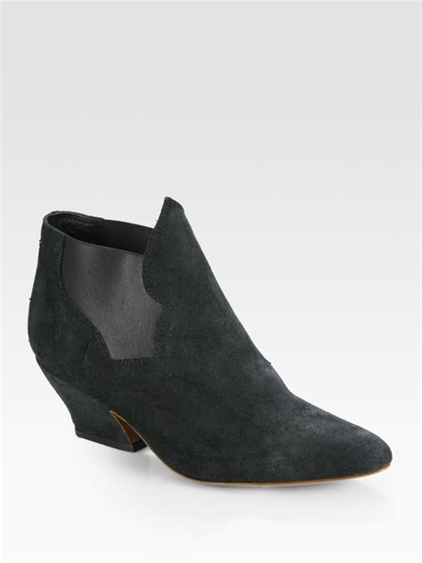 acne studios pixie stretchy suede ankle boots in black lyst