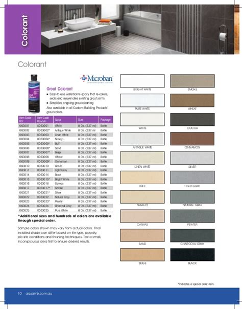 aqua mix grout colorant aqua mix 174 product catalog 2014